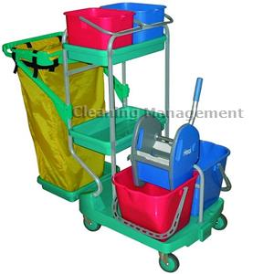 ipc euromop    carrello top evolution mega color verde